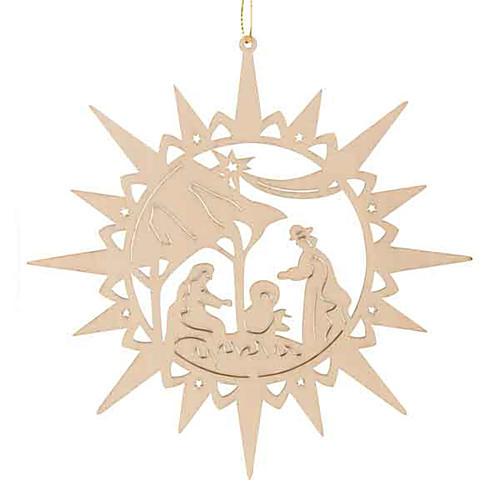 Adornos de navidad estrella de madera 1