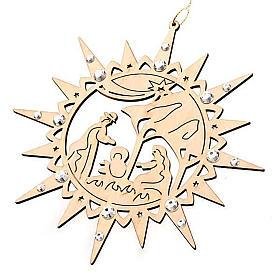 Carved star with swarovski crystals s1