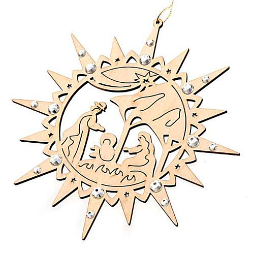 Carved star with swarovski crystals 1