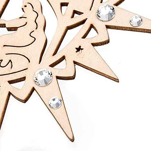 Carved star with swarovski crystals 2