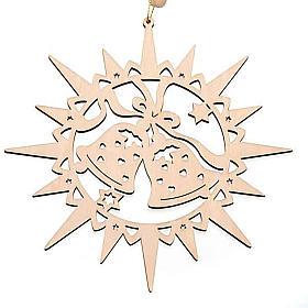 Adornos navideños estrella tallada campanillas s1
