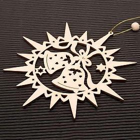 Adornos navideños estrella tallada campanillas s2