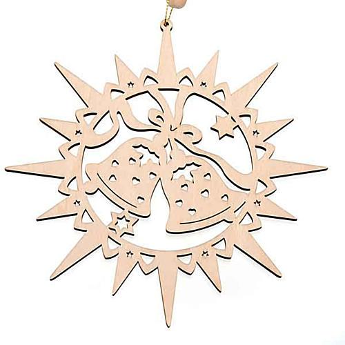 Addobbo natalizio stella intagliata campanelle 1