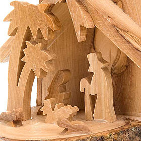Olive wood nativity scene s2