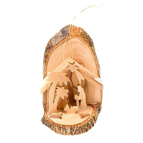 Olive wood nativity scene 1