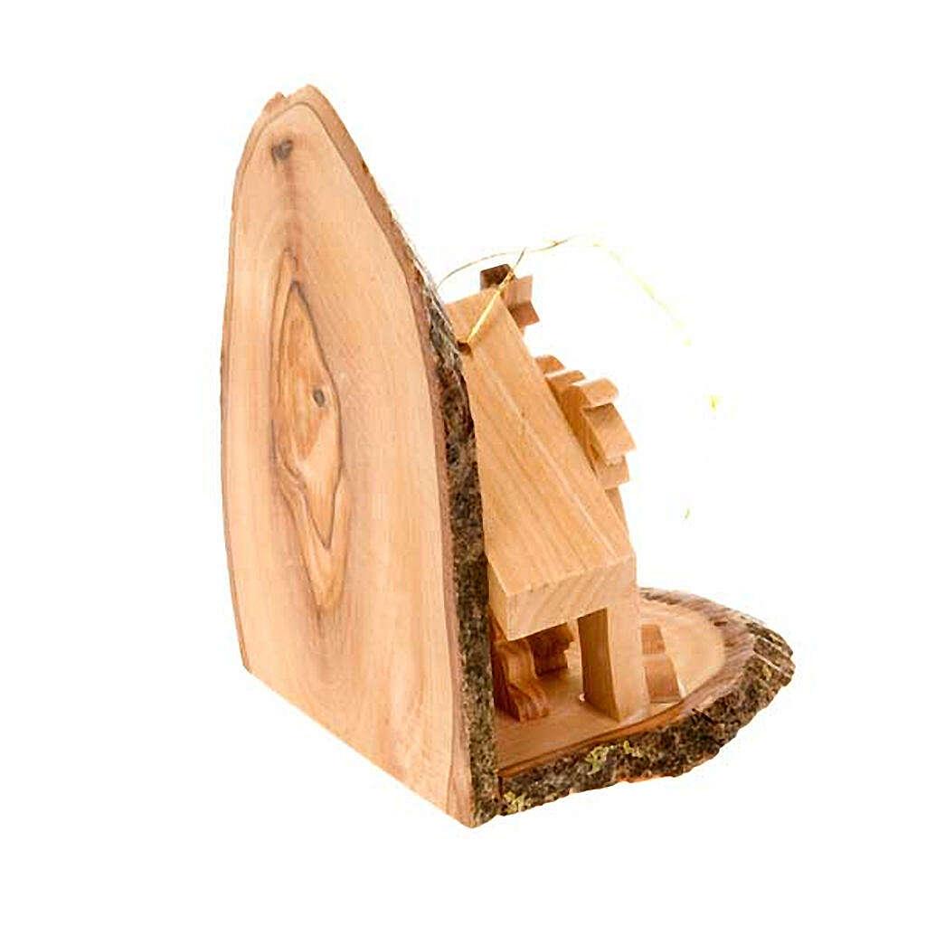 Natividade madeira de oliveira para pendurar 10 cm 4