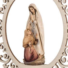Addobbo natalizio Madonna di Lourdes con Bernadette legno s2
