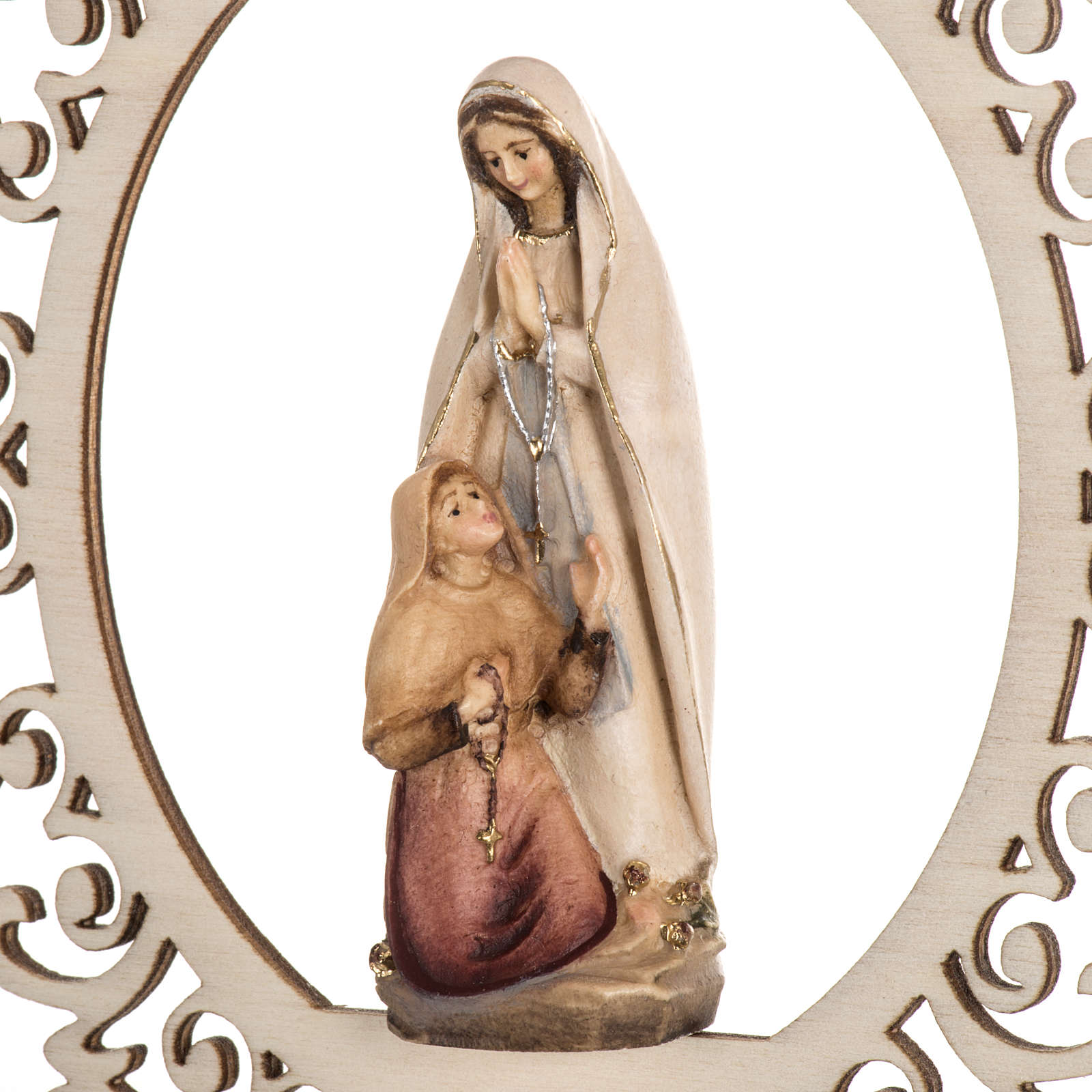 Christmas decor Our Lady of Lourdes with Bernadette wood 4