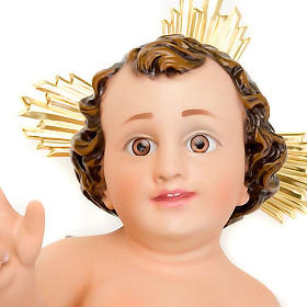 Plaster Baby Jesus with rays s7