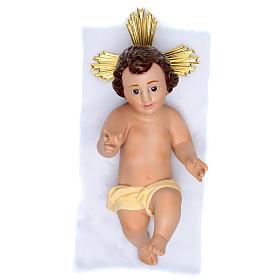 Niño Jesús de yeso con corona s1