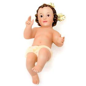 Niño Jesús de yeso con corona s3
