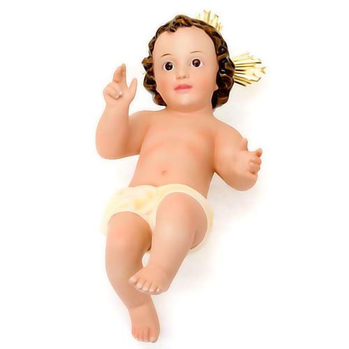 Niño Jesús de yeso con corona 3