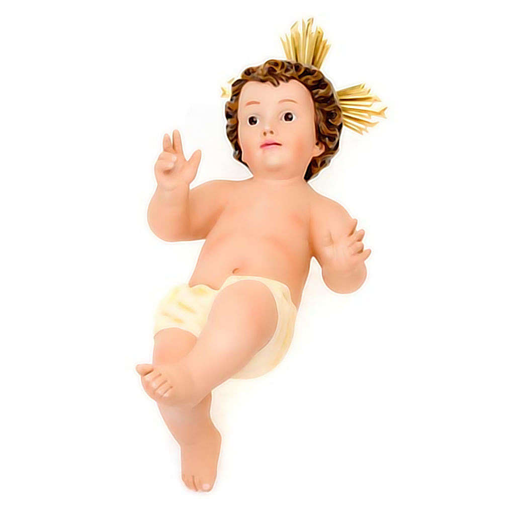 Gesù Bambino gesso raggiera 3