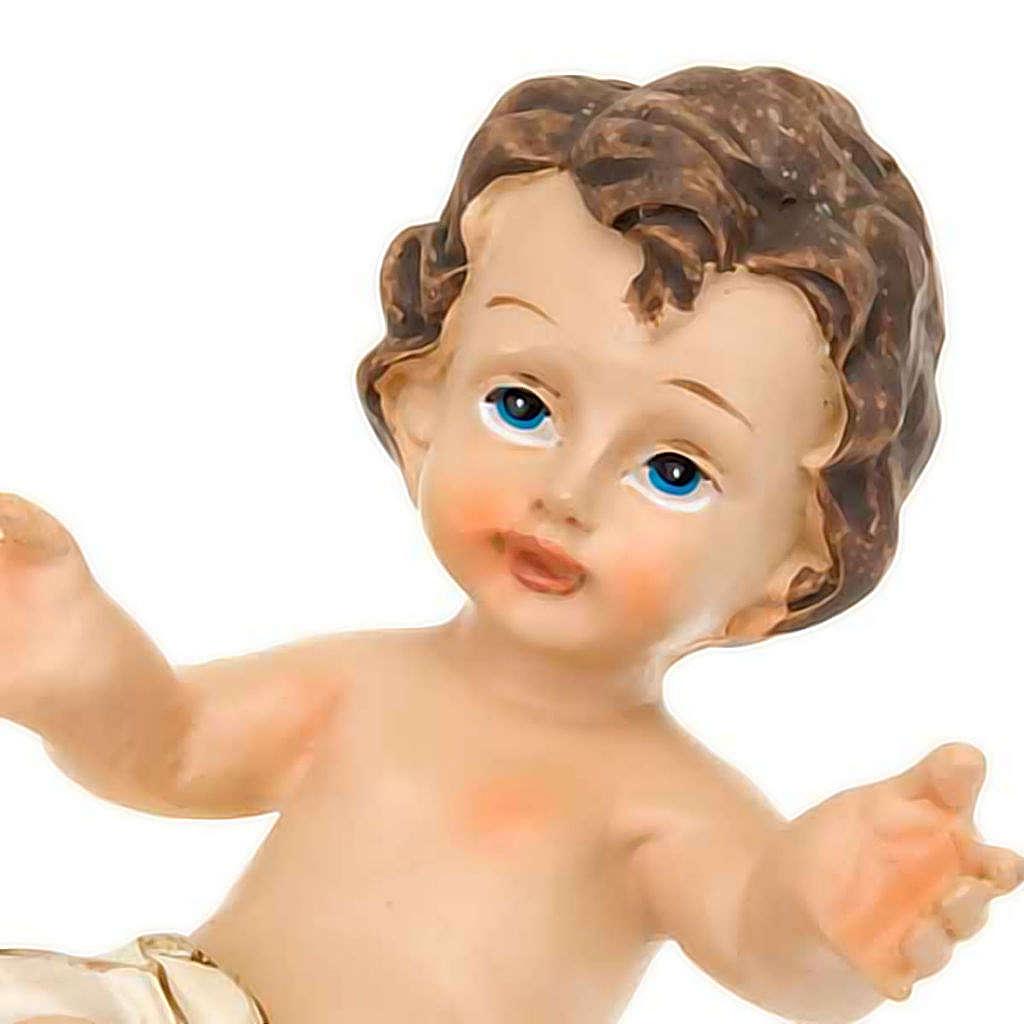 Gesù Bambino resina sdraiato cm 10.5 3