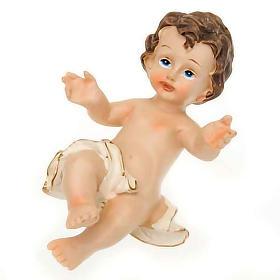 Gesù Bambino resina sdraiato cm 10.5 s1