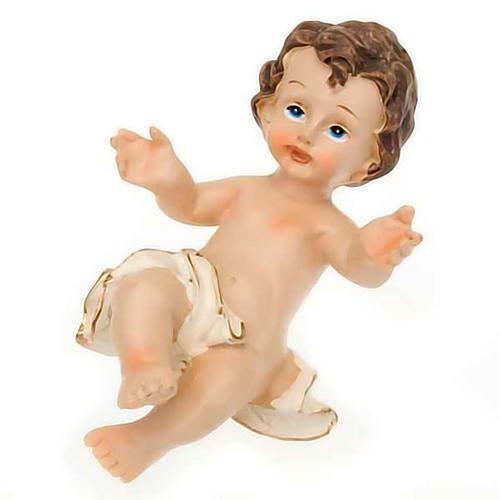 Gesù Bambino resina sdraiato cm 10.5 1