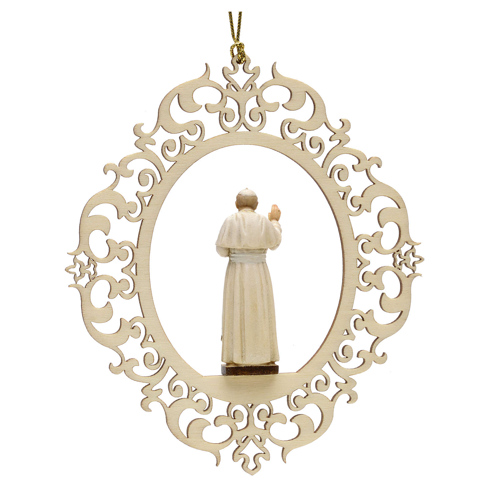 Christmas decor Pope John Paul II wood 4