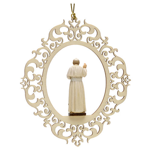 Christmas decor Pope John Paul II wood 2