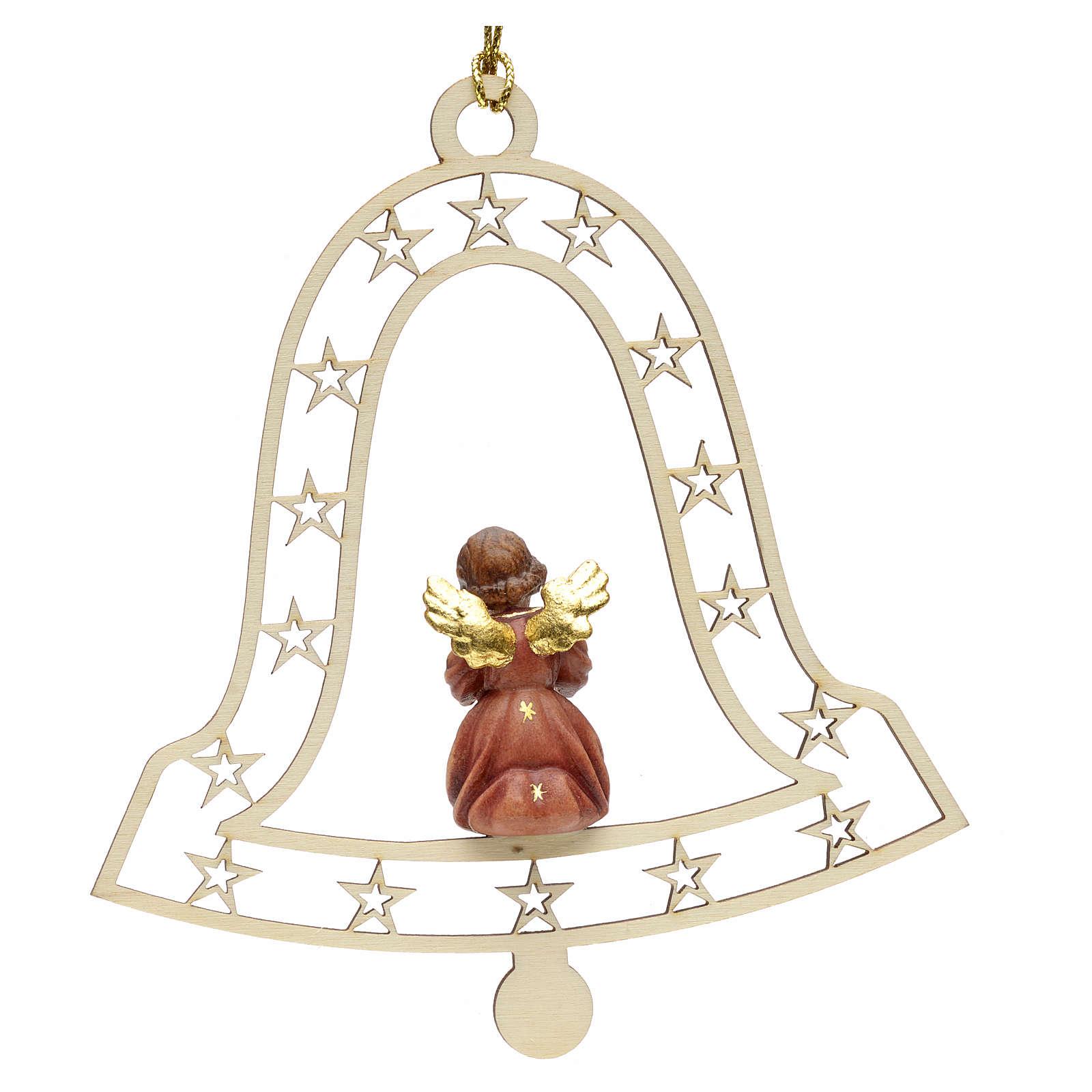 Decoración de Navidad con ángel,  campana  y notas 4