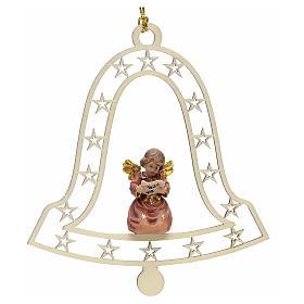 Decoración de Navidad con ángel,  campana  y notas s1