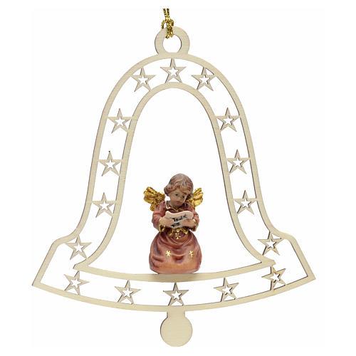 Decoración de Navidad con ángel,  campana  y notas 1