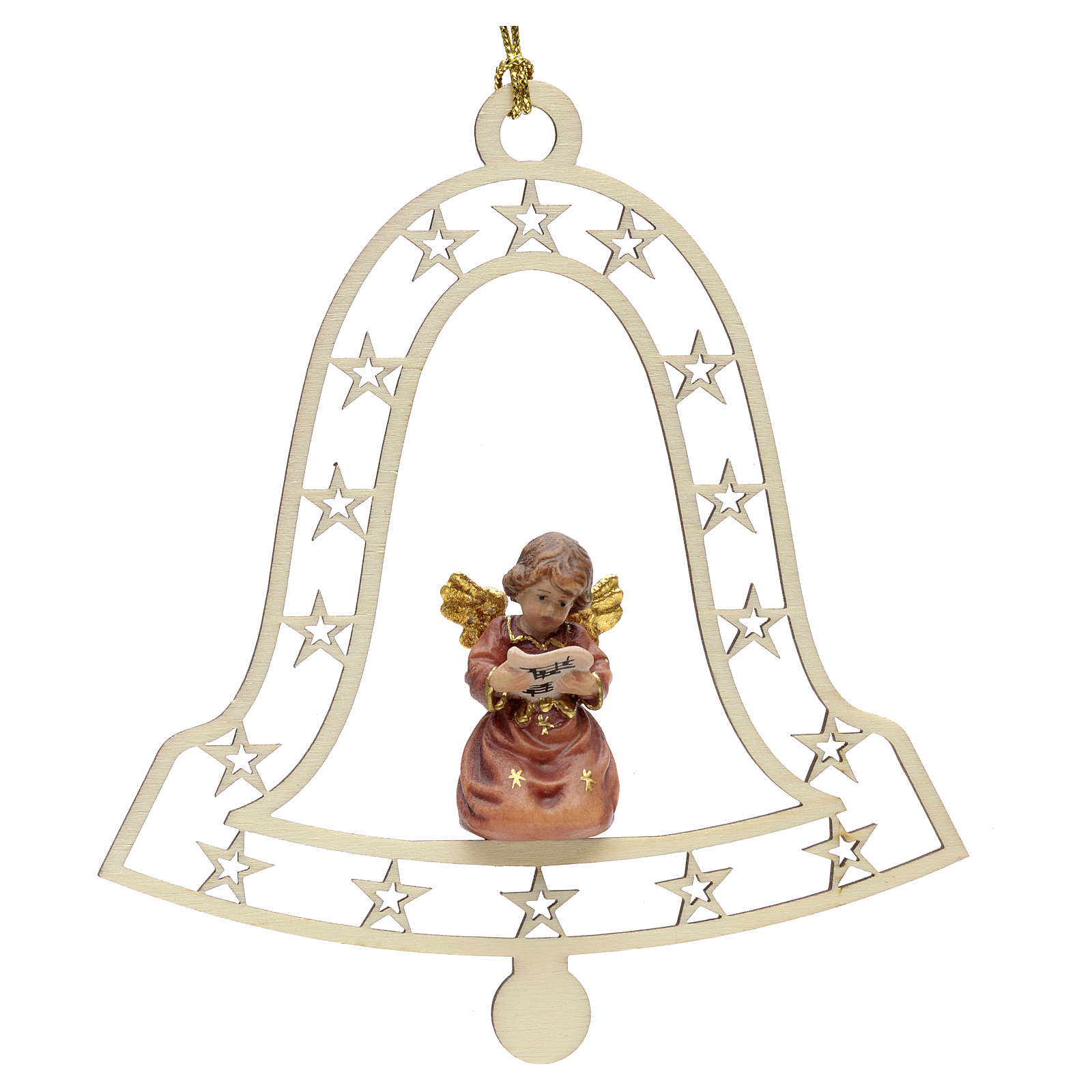 Christmas decor angel and music score on bell 4