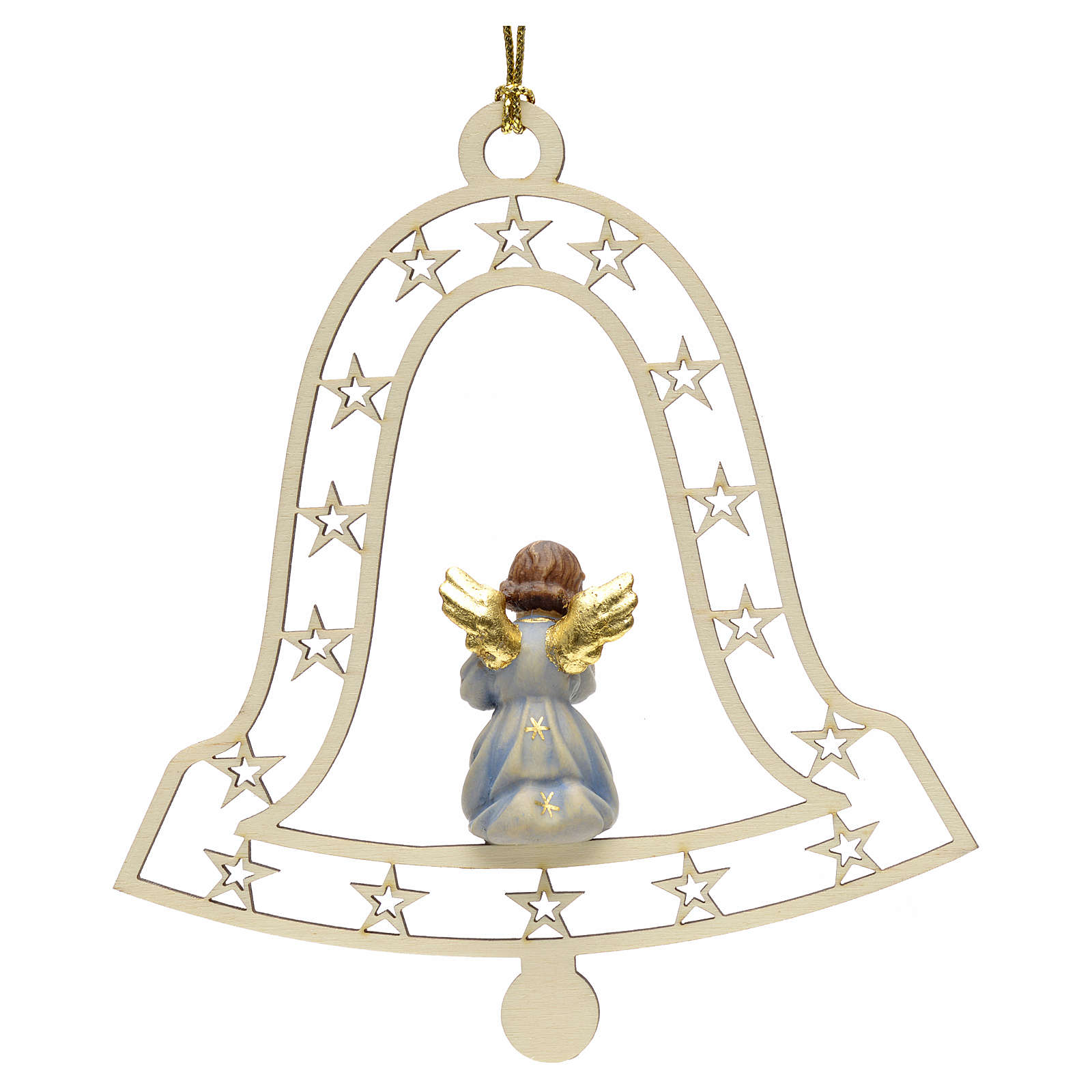 Christmas decor angel and trumpet on bell 4