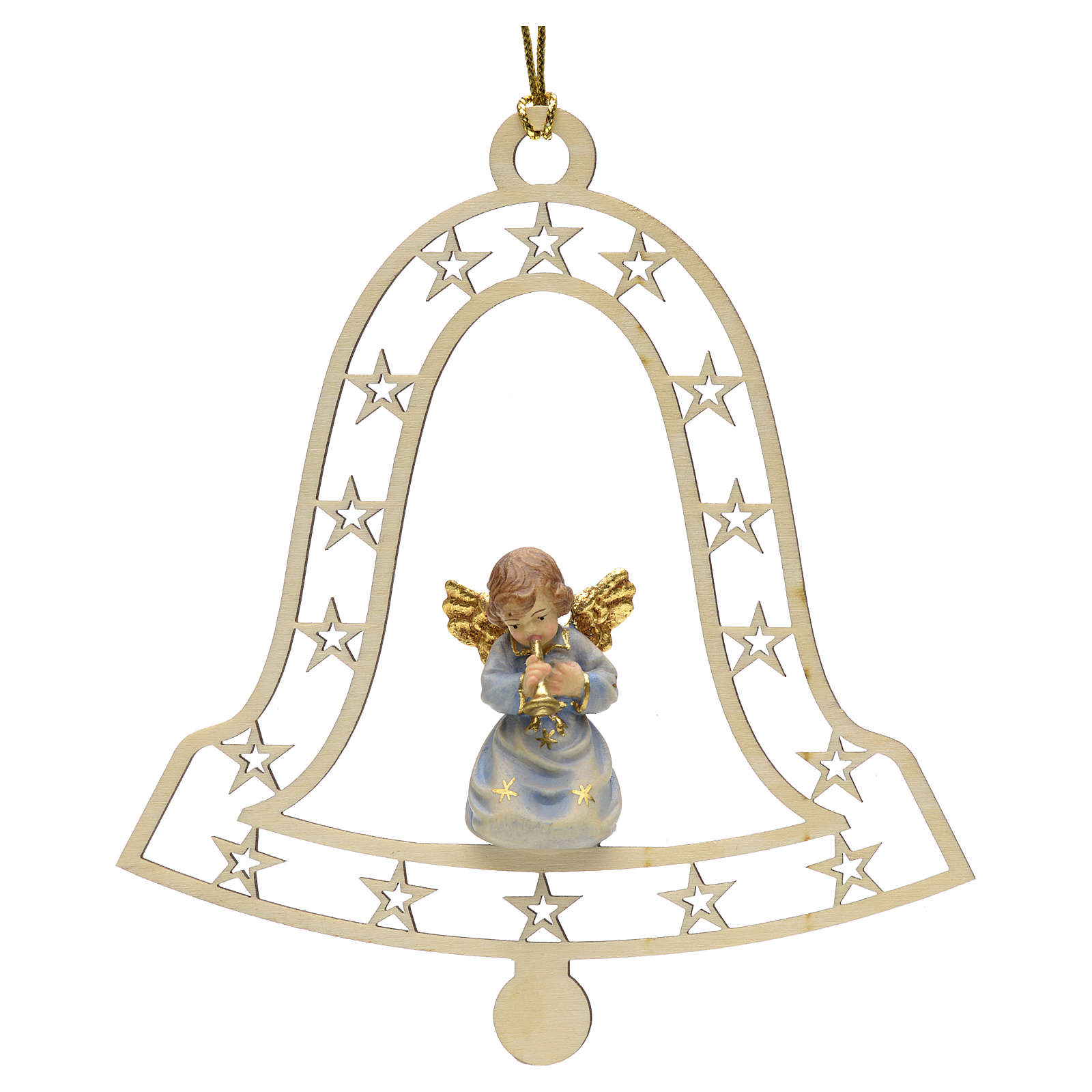 Decoración de Navidad con ángel,  campana  y tromp 4