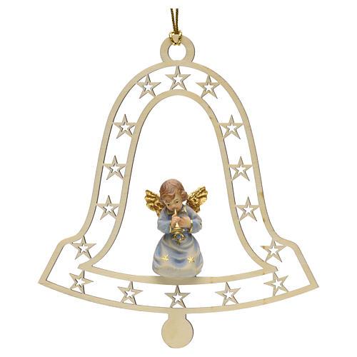 Decoración de Navidad con ángel,  campana  y tromp 1