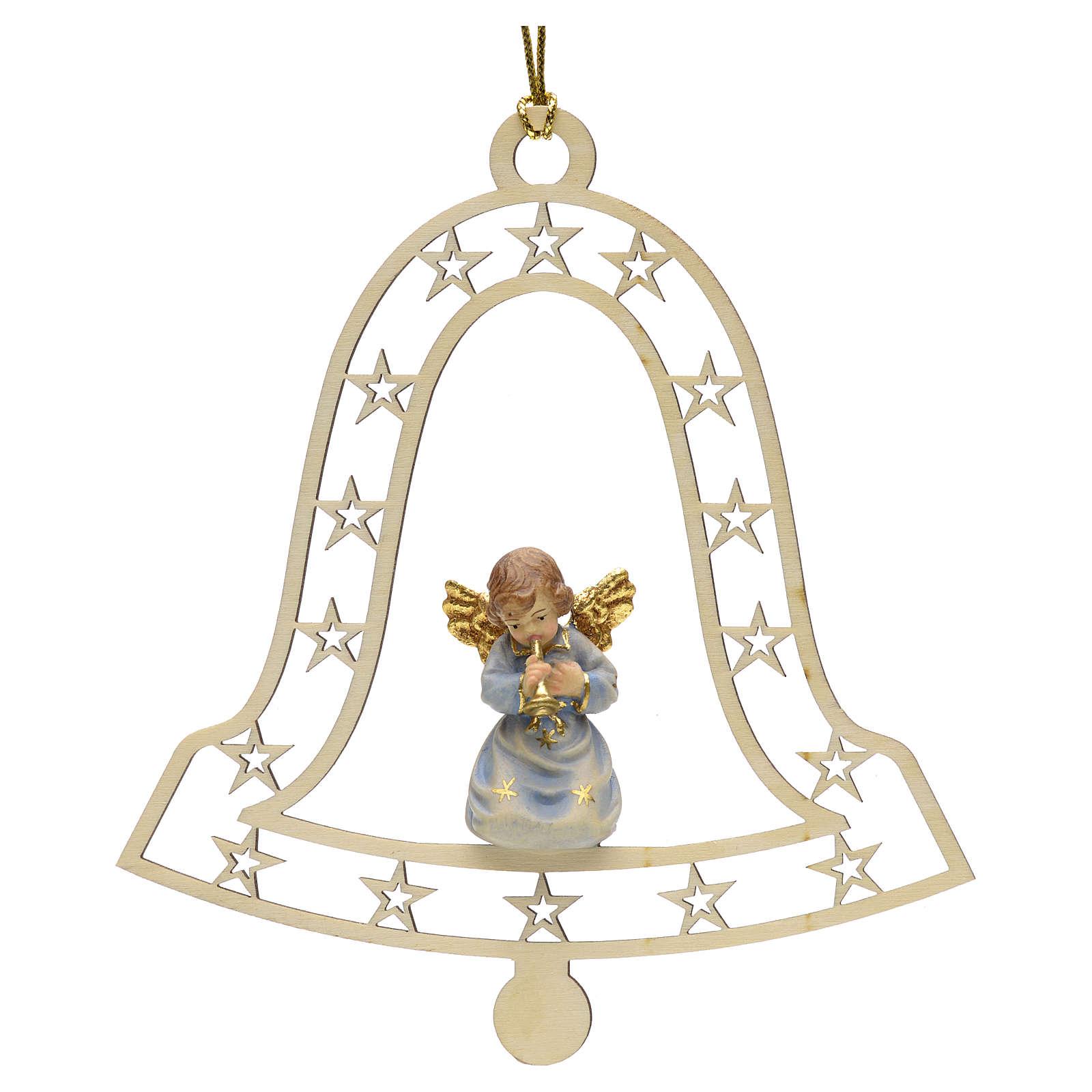 Décoration Noël ange avec trompette cloche 4