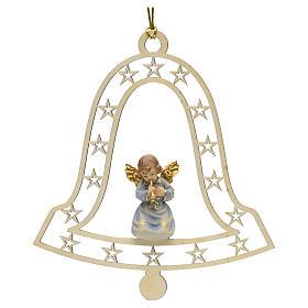 Décoration Noël ange avec trompette cloche s1