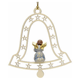 Décoration Noël ange avec trompette cloche s2