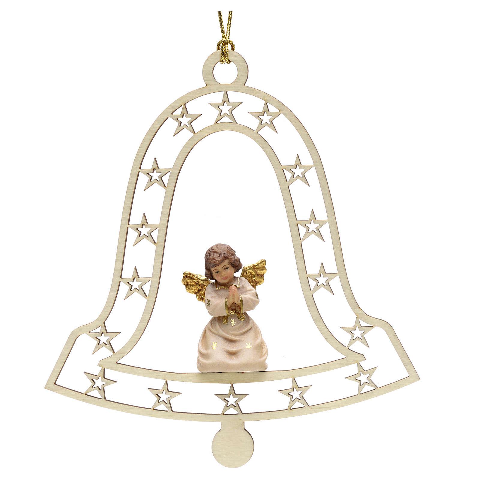 Christmas decor angel praying on bell 4