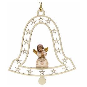 Adornos de madera y pvc para Árbol de Navidad: Decoración de Navidad con ángel que ruega y campan