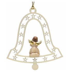 Decoración de Navidad con ángel que ruega y campan s2