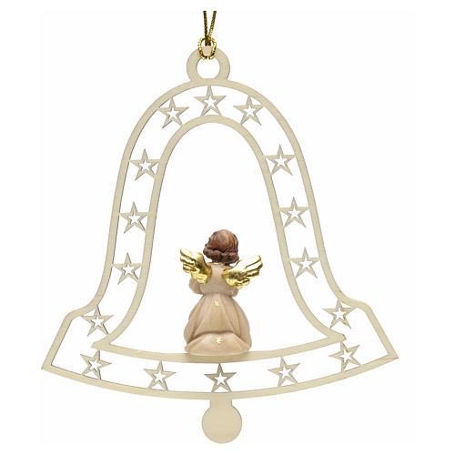 Decoración de Navidad con ángel que ruega y campan 2