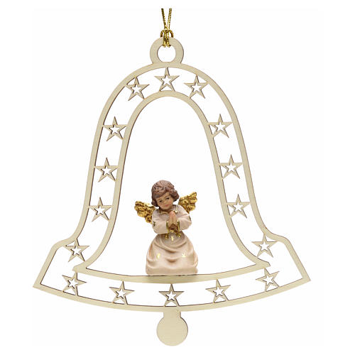 Addobbo natalizio angelo che prega campana 1