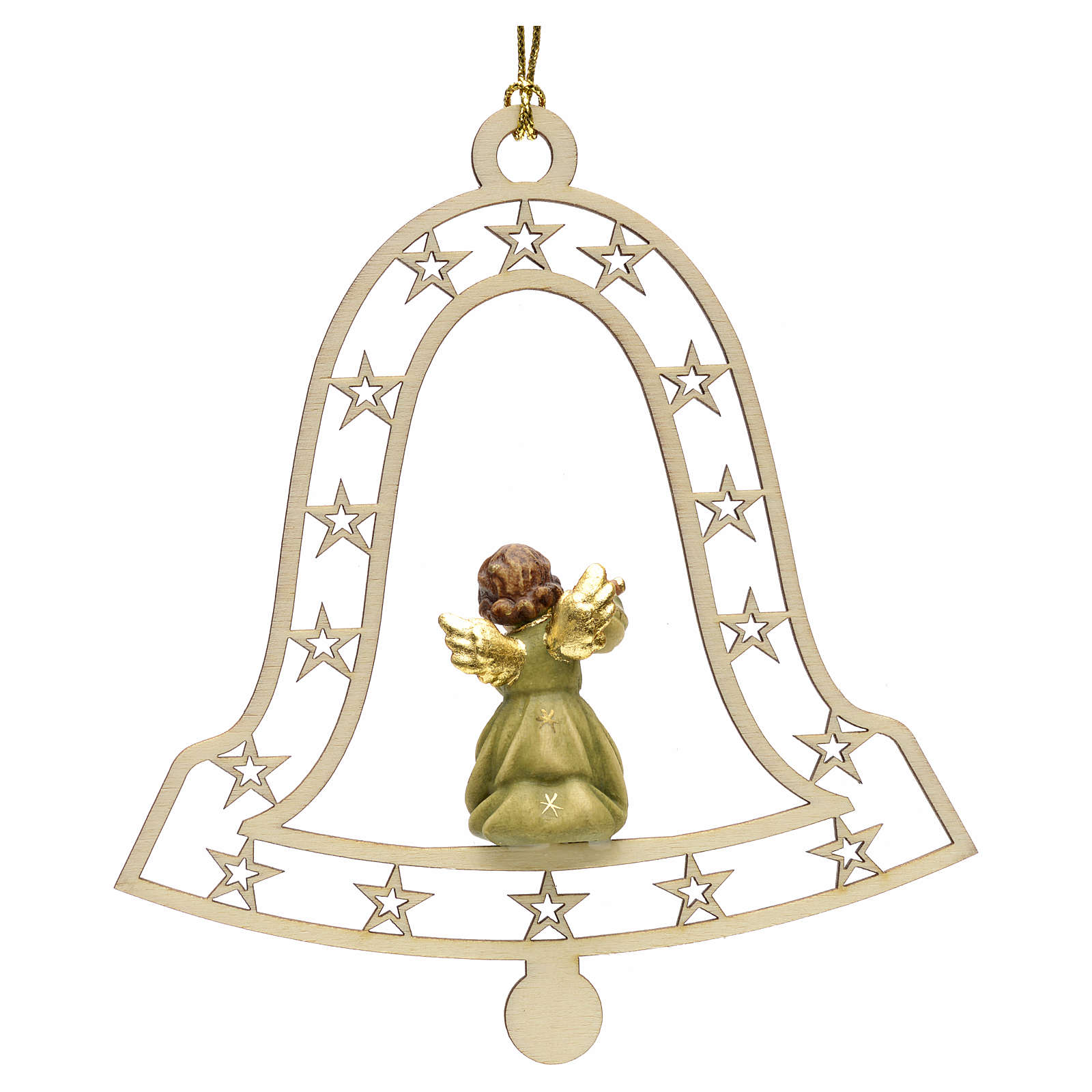 Christmas decor angel with flute on bell 4