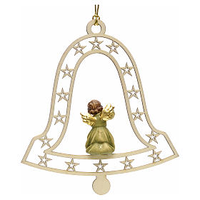 Christmas decor angel with flute on bell s2