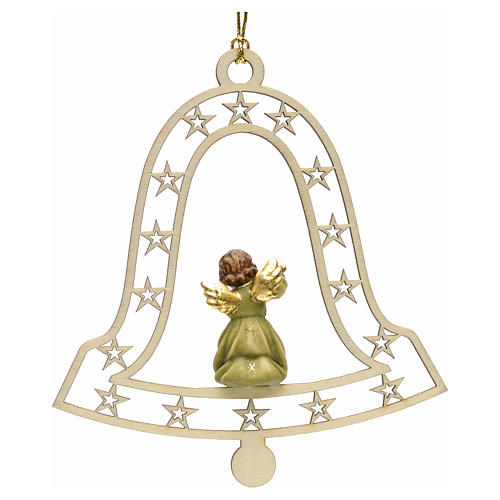 Christmas decor angel with flute on bell 2