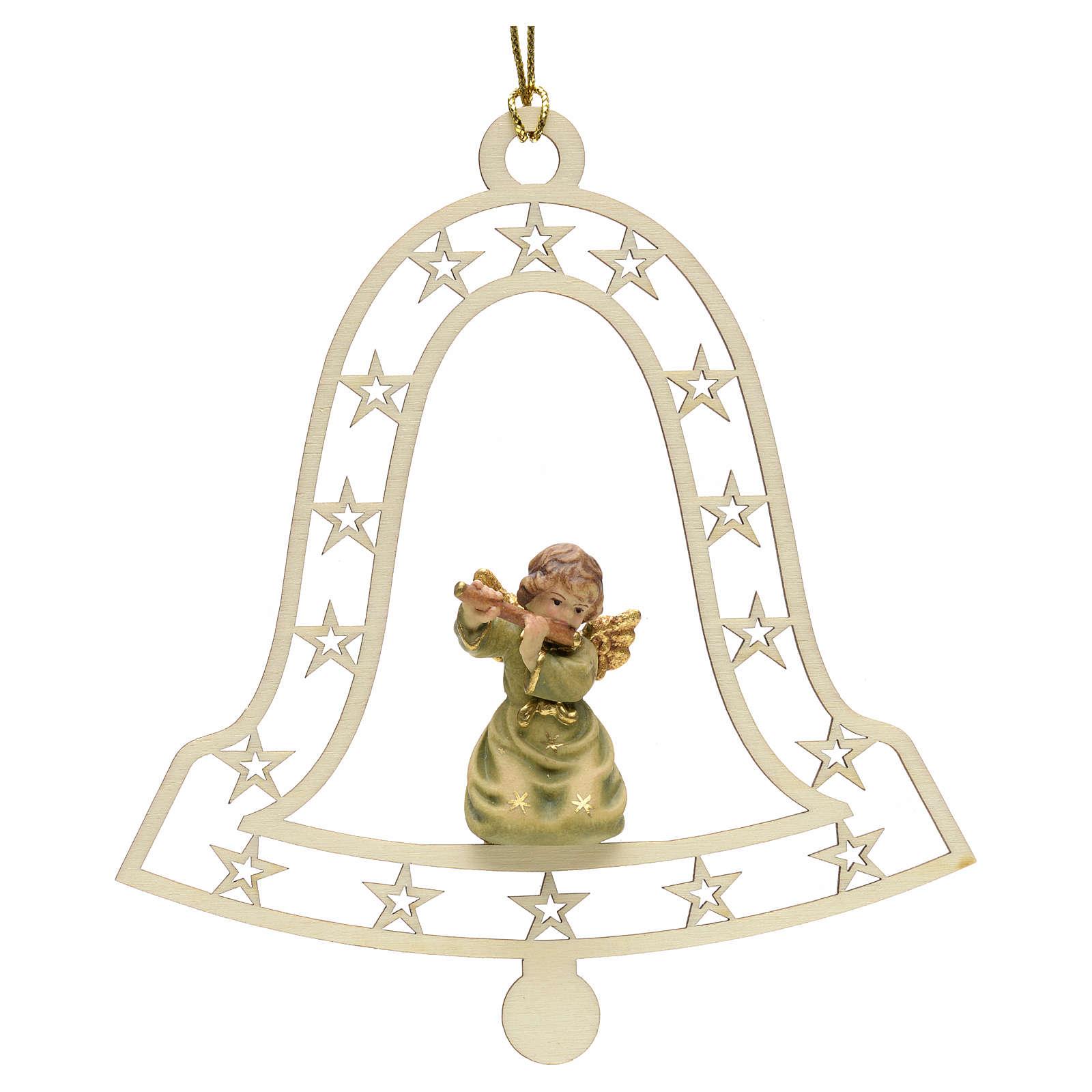 Addobbo natalizio angelo campana con flauto 4