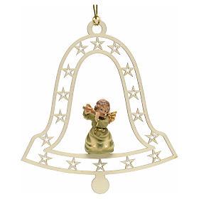 Addobbo natalizio angelo campana con flauto s1