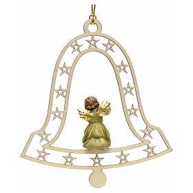 Addobbo natalizio angelo campana con flauto s2