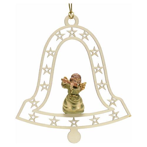 Addobbo natalizio angelo campana con flauto 1