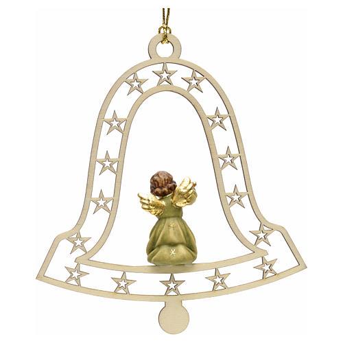 Addobbo natalizio angelo campana con flauto 2