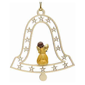Christmas decor angel with lamp on bell s2