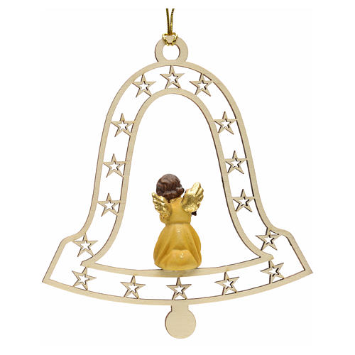 Christmas decor angel with lamp on bell 2