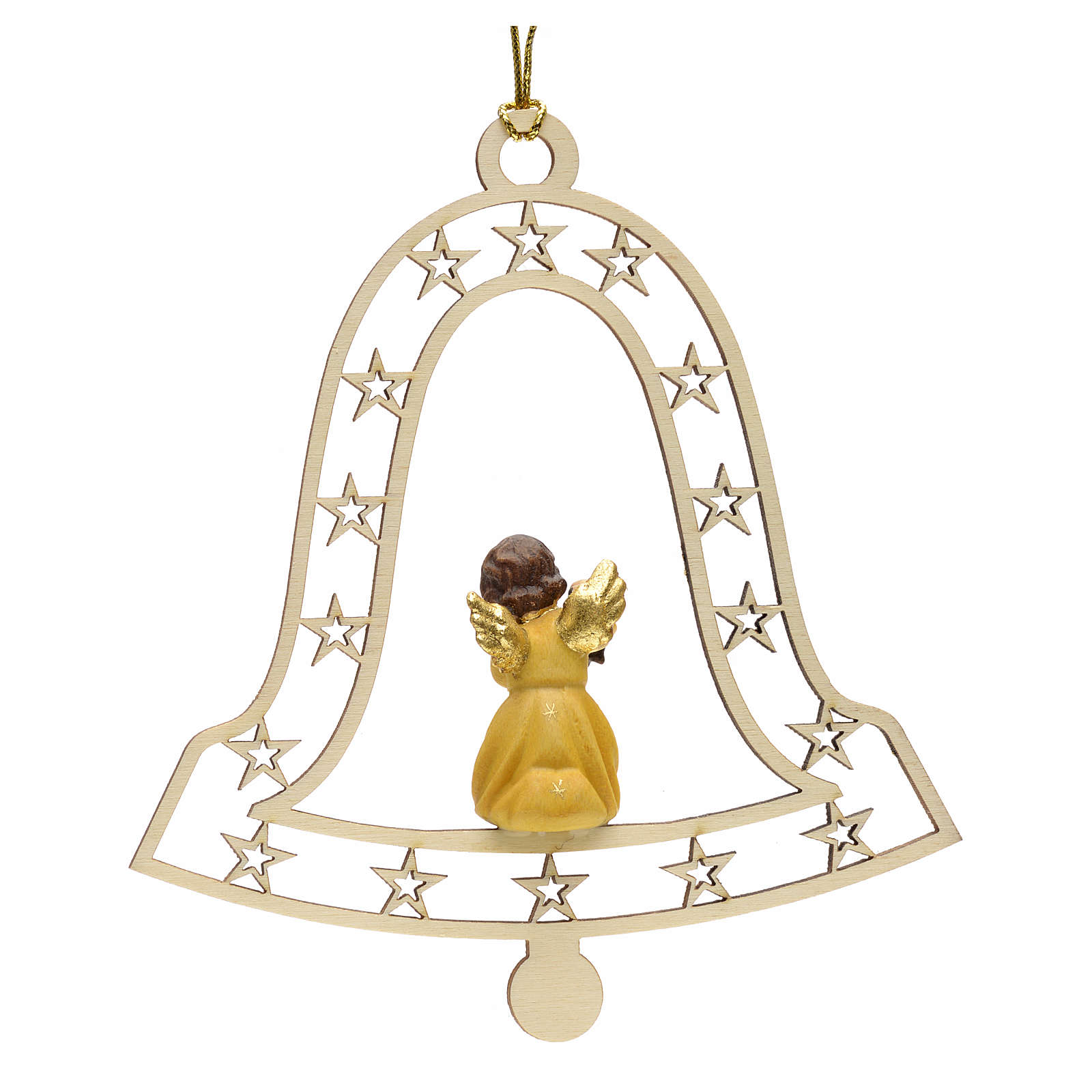 Décoration Noël ange avec lanterne cloche 4