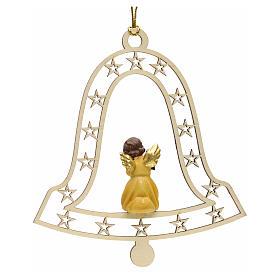 Décoration Noël ange avec lanterne cloche s2