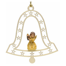 Christmas decor angel with lamp on bell s1